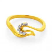 0.07ct. diamond ring set with diamond in casual ring