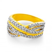 0.83ct. diamond ring set with diamond in band ring