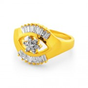 0.49ct. diamond ring set with diamond in flower ring