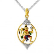 0.142ct. diamond pendant set with diamond in religious pendant
