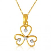 0.05ct. diamond pendant set with diamond in fancy pendant