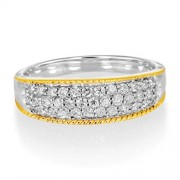 0.5ct. diamond ring set with diamond in wide band ring