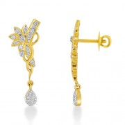 0.46ct. diamond earrings set with diamond in drop earrings
