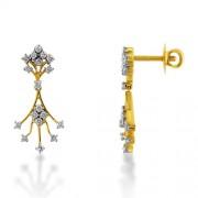 0.96ct. diamond earrings set with diamond in drop earrings