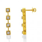0.39ct. diamond earrings set with diamond in drop earrings