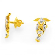 0.3ct. diamond earrings set with diamond in drop earrings