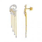 0.8ct. diamond earrings set with diamond in drop earrings