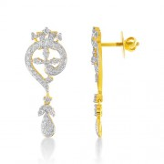 2.03ct. diamond earrings set with diamond in drop earrings