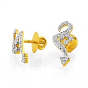 0.6ct. diamond earrings set with diamond in designer earrings