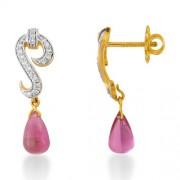 10.25ct. onyx earrings set with diamond in fancy earrings