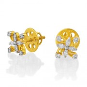 0.49ct. diamond earrings set with diamond in designer earrings