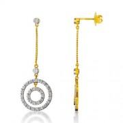 1.22ct. diamond earrings set with diamond in drop earrings
