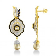 11.88ct. sapphire earrings set with diamond in fusion earrings