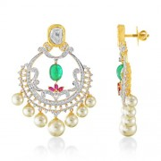 51.53ct. ruby jhumki set with diamond in fusion jhumki