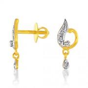 0.12ct. diamond earrings set with diamond in fancy earrings