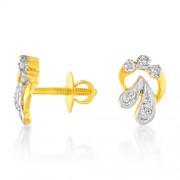0.24ct. diamond earrings set with diamond in fancy earrings
