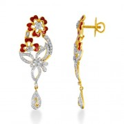 1.93ct. diamond earrings set with diamond in designer earrings