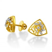 0.36ct. diamond earrings set with diamond in designer earrings