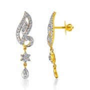 1.25ct. diamond earrings set with diamond in drop earrings