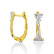 0.19ct. diamond earrings set with diamond in hoop earrings