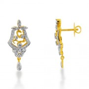 0.98ct. diamond earrings set with diamond in drop earrings