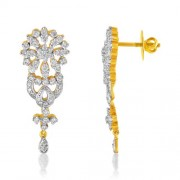 2.25ct. diamond earrings set with diamond in drop earrings