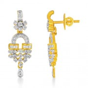 1.23ct. diamond earrings set with diamond in drop earrings