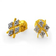 0.47ct. diamond earrings set with diamond in designer earrings