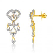 0.67ct. diamond earrings set with diamond in drop earrings