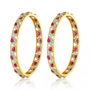 12.65ct. ruby bangles set with diamond in fancy bangles