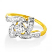 0.62ct. diamond ring set with diamond in engagement ring
