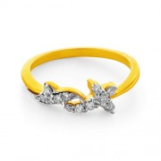 0.18ct. diamond ring set with diamond in casual ring