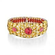 Jadau Bracelet set with 7cts. Diamonds and Garnet