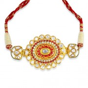 Jadau Baju Bandh set with 4.31cts. Diamonds and Semi Precious Stones