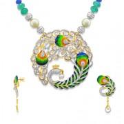1ct. emerald pendant set with diamond in fusion pendant