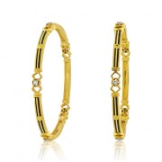 0.76ct. diamond bangles set with diamond in solitaire bangles