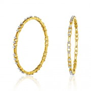 Diamond bangles set with 3.61 ct. diamonds made in 18kt. gold.