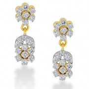 0.8ct. diamond earrings set with diamond in drop earrings