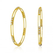 3.35ct. diamond bangles set with diamond in solitaire bangles