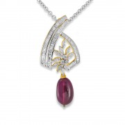 7.62ct. tourmaline pendant set with diamond in designer pendant