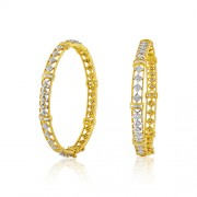 Diamond bangles set with 3.22 ct. diamonds made in 18kt. gold.