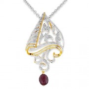5.66ct. tourmaline pendant set with diamond in designer pendant