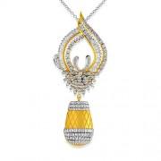 3.23ct. diamond pendant set with diamond in designer pendant