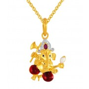 0ct. ruby pendant set with diamond in religious pendant
