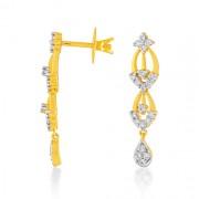 0.81ct. diamond earrings set with diamond in drop earrings