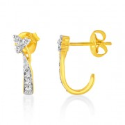 0.2ct. diamond earrings set with diamond in hoop earrings