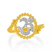 0.13ct. diamond ring set with diamond in religious ring